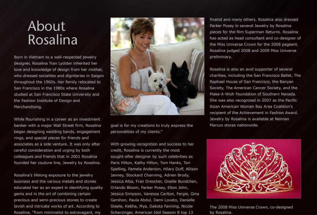 About Rosalina - Jewelry by Rosalina, Inc.